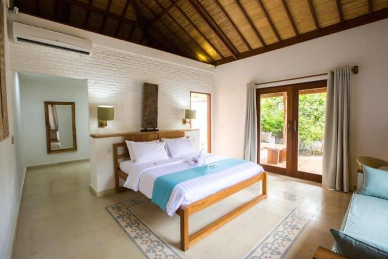villa lombok gili trawangan piscine privative chambre