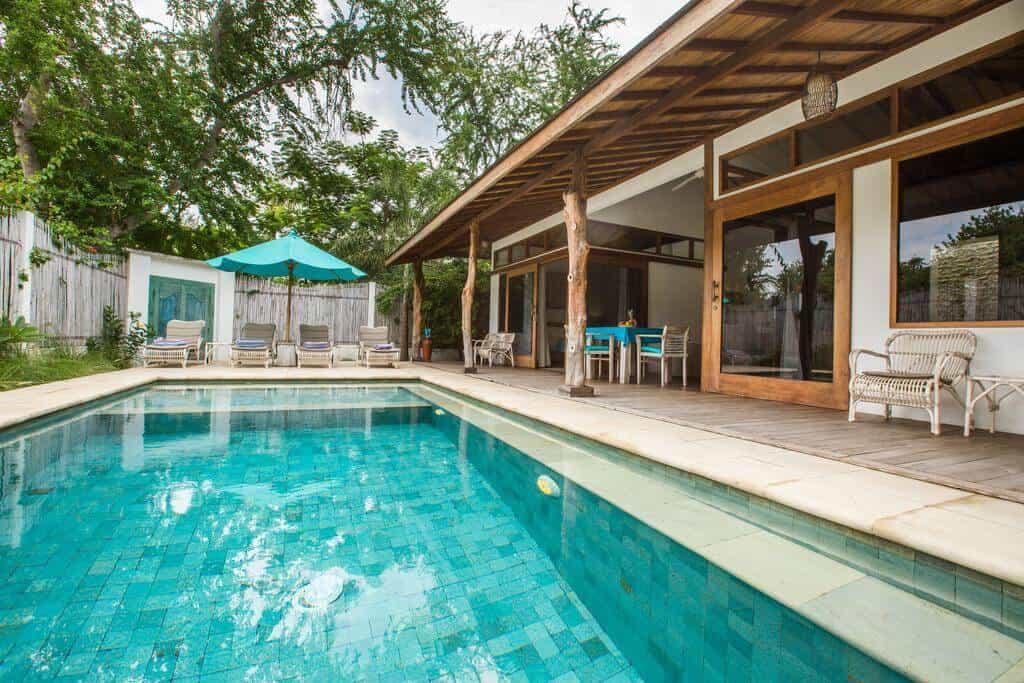 villa lombok gili trawangan piscine privative famille
