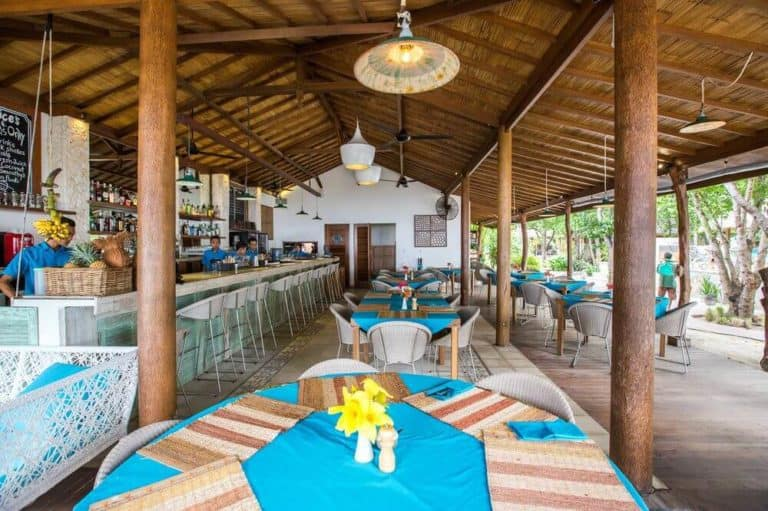 villa lombok gili trawangan piscine privative restaurant