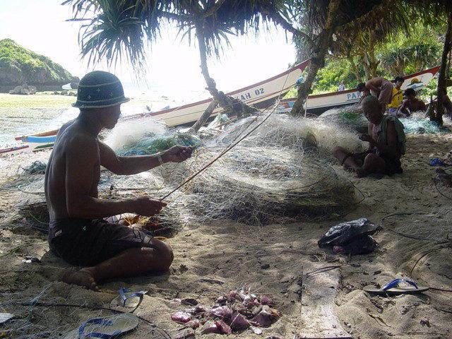 village pêcheurs java indonésie