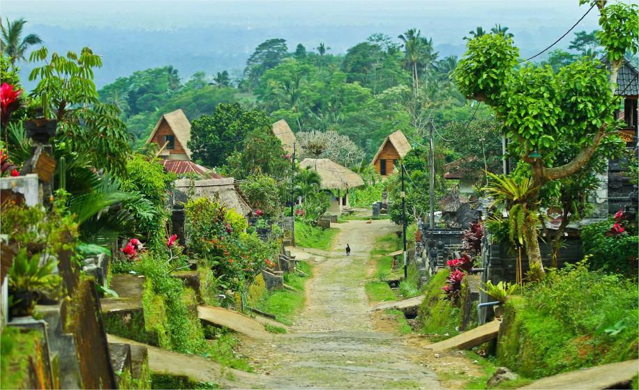 village balinais maisons
