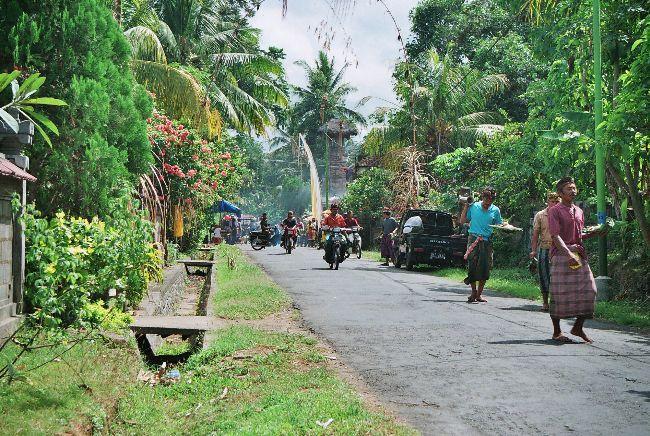 villa typique balinais et ses habitants