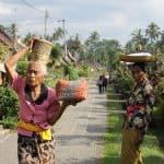 village typique balinais et ses habitants