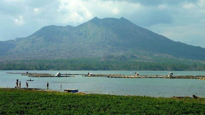 volcan batur bali lac