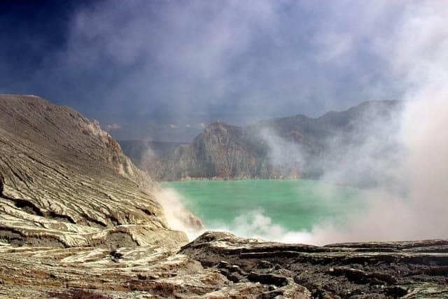 volcan ijen ile java paysage indonesien