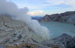 Ijen ile de java volcan indonésie